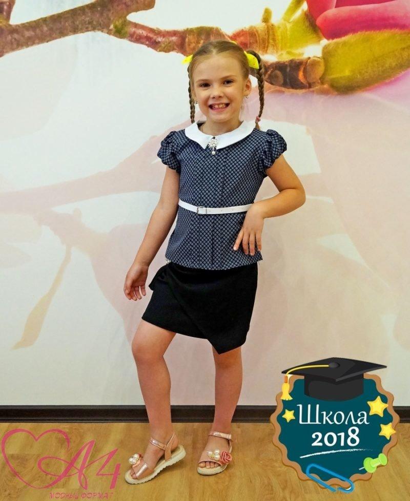 Красивая детская блузка (кружок) фото